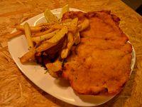 Combo potente - milanesa de pollo + papas fritas + gaseosa Coca-Cola 220 ml