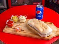 Promo Dani- 08 - Sándwich de milanesa + 1 lata de Pepsi + bocadito