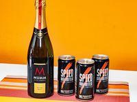 Combo 40 - Champagne Mumm 750 ml + 3 energizantes Speed 250 ml
