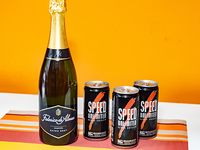 Combo 38 - Champagne Federico de Alvear 750 ml + 3 energizantes Speed 250 ml