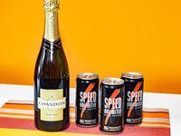 Combo 39 - Champagne Chandon 750 ml + 3 energizantes Speed 250 ml