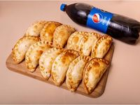 Promo 12 empanadas + Refresco linea pepsi 1, 5 de Regalo