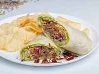 Wrap guacamole con Ternera bbq