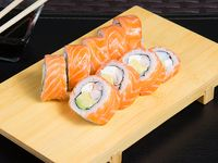 10 - Ebi roll sake (8 piezas)