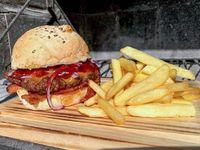 Marte burger + papas fritas 200 g
