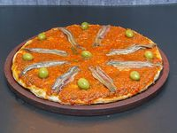 Pizza con anchoas personal