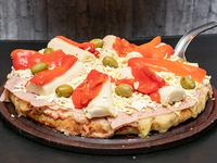 Pizza con palmitos al molde