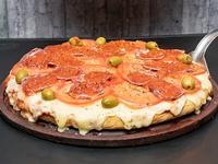 Pizza napolitana a la calabresa al molde