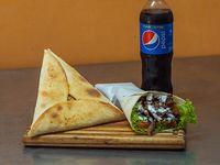 Promo Ararat  - Shawarma + fatay de carne o verduras + gaseosa de linea Pepsi 500 ml o cerveza Quilmes de 473 ml