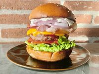 Burger american bbq