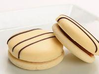 Caja de alfajores chocolate blanco chico (6 unidades)