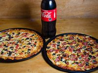 Promo - 2 pizzas grandes + bebida 1.5 L