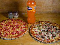 Promo - 2 pizzas familiares + bebida 1.5 L