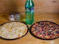 Promo - 2 pizza medianas + bebida 1.5 L