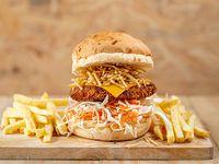 Caribbean Burguer con fritas