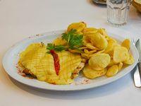Pollo a la mostaza con papas españolas