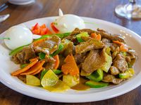 075 - Carne salteada al curry