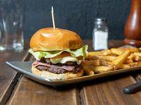 Súper hamburguesa doble
