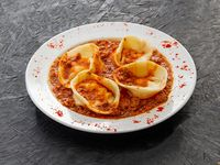 Sorrentinos caseros con salsa