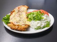 Sándwich de suprema de pollo napolitano
