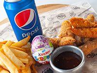 Combo - Chicken fingers + papas + bebida + regalo sorpresa