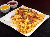 Papas fritas  bacon