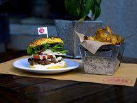 Burger Lolla + papas fritas