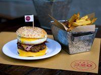 Burger Johnny Cash + papas fritas