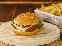 Burger veggie con guarnición