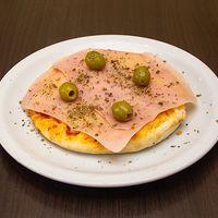 Pizza prosciutto cotto e mozzarella individual