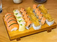 Tabla shrimp & salmón (30 unidades)