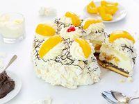Torta de durazno  (porción de torta carrera)