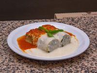 Promo exclusiva - Canelones de verdura y pollo con salsa mixta