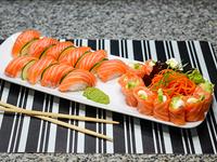 Promo 1 - Geishas de salmón (10 piezas) + niguiris (10 piezas)