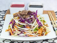 Vegetales al wok con carne