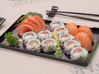 Combinado tsuru - 16 piezas de sushi y sashimi de salmón