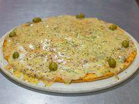 Pizza con roquefort grande