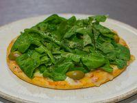 Pizza con rúcula chica