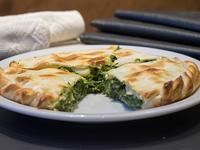608 - Tarta de verdura con muzzarella y huevo