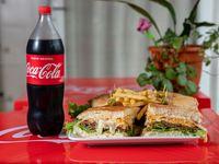 Promoción - Tortugón para 2 personas + papas fritas + refresco línea Coca Cola 1.5 L