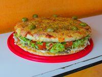 Pizza lomo (8 porciones)
