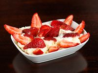 Frutillas a la crema