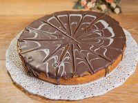 Tarta de ricotta con chocolate y dulce de leche