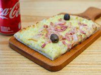 Promo - 1/4 pala fugazzetta con panceta + bebida chica