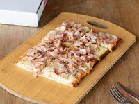 Pizza muzzarella con un gusto (porción)