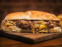 Sándwich philly cheese steak