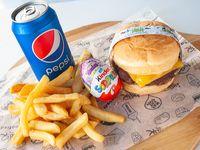 Combo - Burger kids + papas + bebida + regalo sorpresa