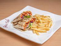 Combo - Wrap de pollo tandori + acompañamiento + soda 355 ml