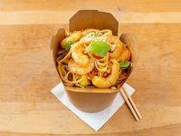 Wok pad thai de camarones