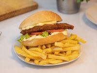 Sándwich de milanesa de seitán